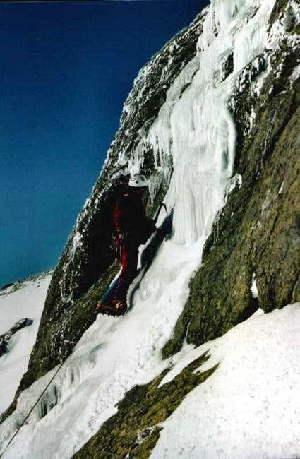 Iceclimbing in Peñalara on a...