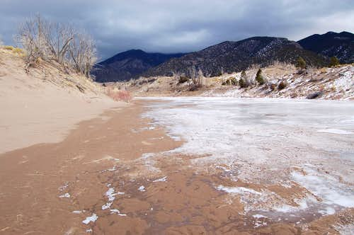 Frozen Medano Creek