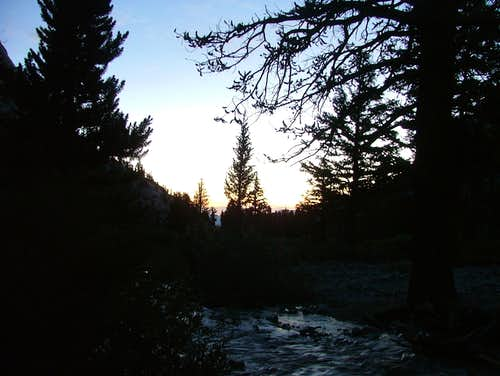 First Light Along the Whitney Trail