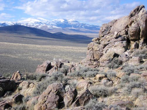 Typical Owyhee Desert Mountain Scene
