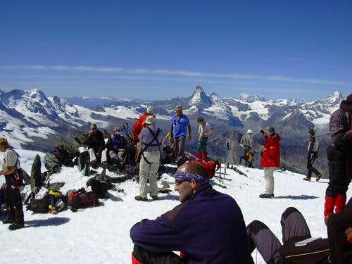Allalinhorn near the summit
