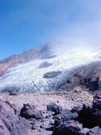 Cayambe, lower glacier