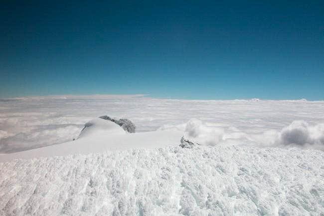 Cotopaxi summit plateau, 8 AM.