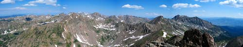 Gore Range Panorama from Vista Peak