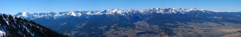 Panorama of the Gore Range from Ute Peak