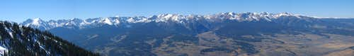Panorama of the Gore Range from Ute Peak