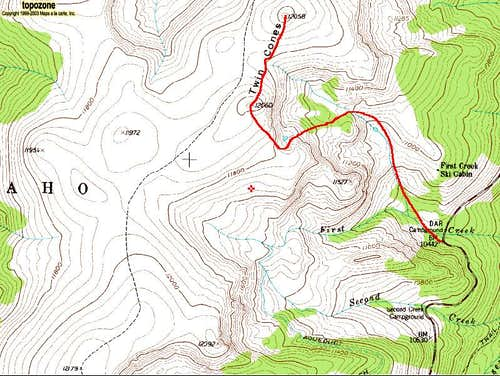 Twin Cones\' First Creek Route