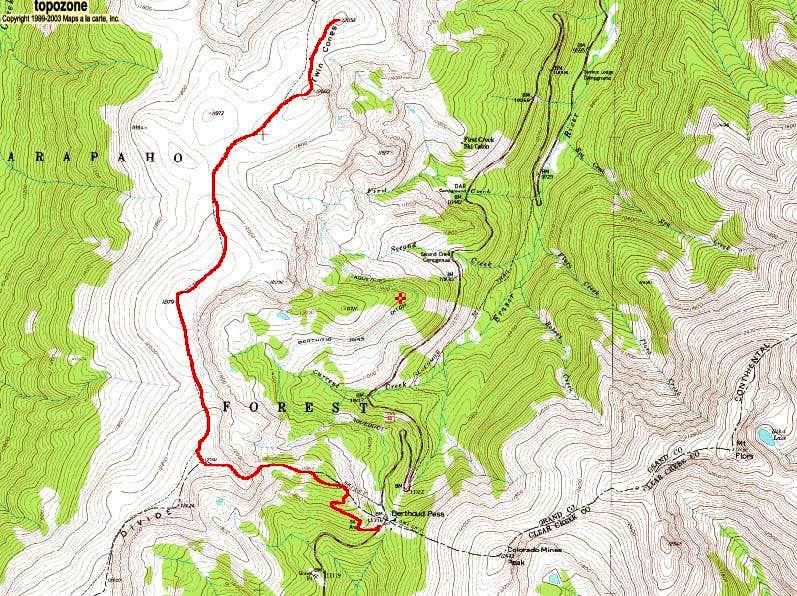 Twin Cones  Berthoud Pass Route