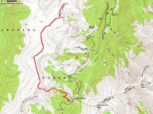 Twin Cones\' Berthoud Pass Route
