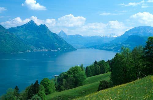 Alps around Vierwaldstatter See