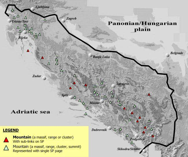 Dinaric Alps - Interactive Map : Photos, Diagrams & Topos : SummitPost