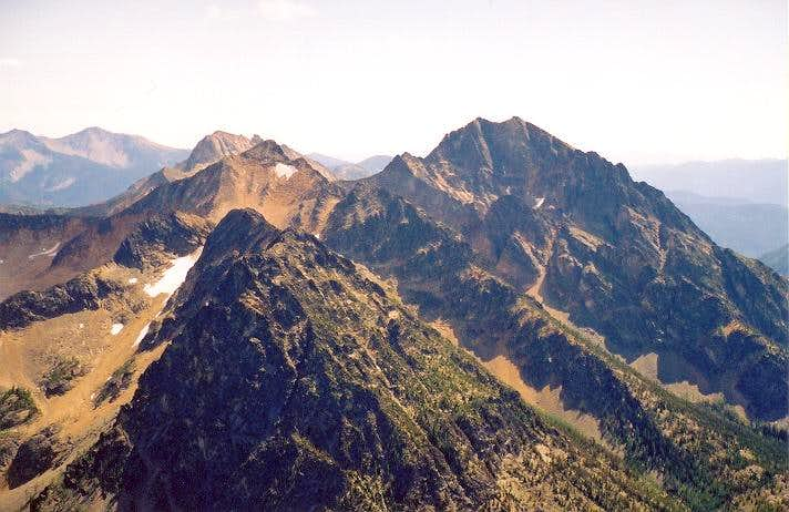 On the right is Monument Peak...