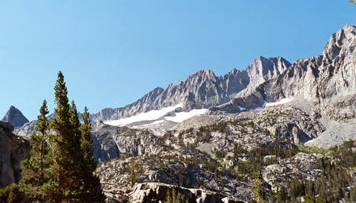 Panorama along South Fork Big Pine Creek Trail