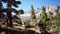 Backpackers Along SouthFork Big Pine Creek Trail
