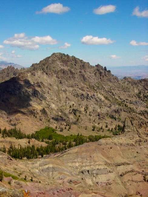 Raymond Peak from the summit...
