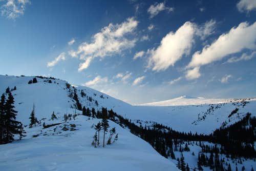 The Twin Cones from Elevation Point 11,527\'
