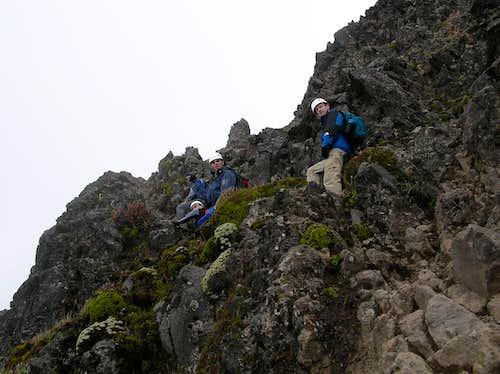 Scrambling to the top
