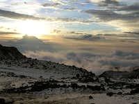 Sunset from Cayambe Refugio