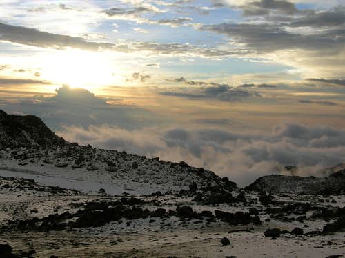 Sunset from Cayambe Refugio