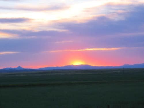 Neon Sunset over Laramie Peak