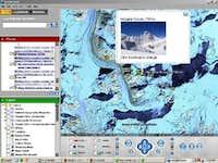 Cho Oyu climb in Google Earth