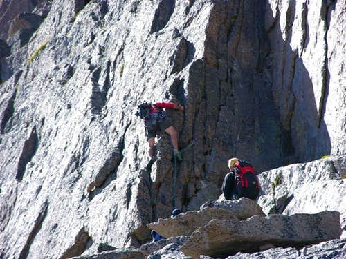 Starting the vertical pitch of the Keyhole Ridge.