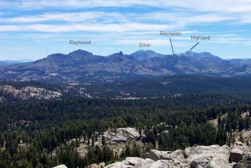 The peaks near Ebbetts Pass...