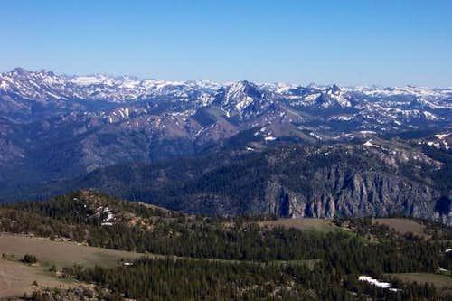 Raymond Peak (center) from...