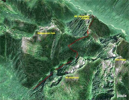 3D Satellite photo of Mt....