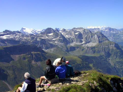 View from to to Bernese Alps