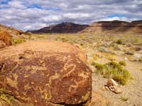 Petroglyphs near Hole in the Wall