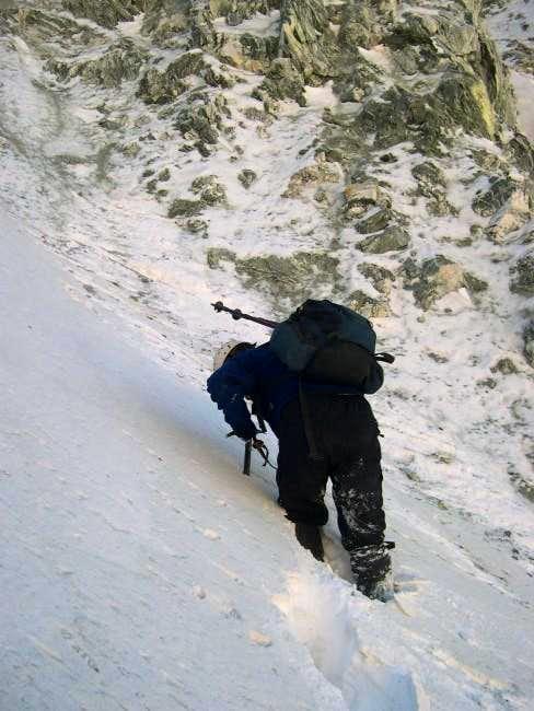 Miguel Forjan breaking trail...