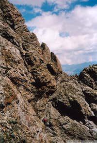Climbing les Rochers Rouches, Pelvoux south face