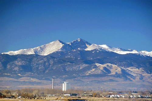 Longs Peak from Loveland, Colorado