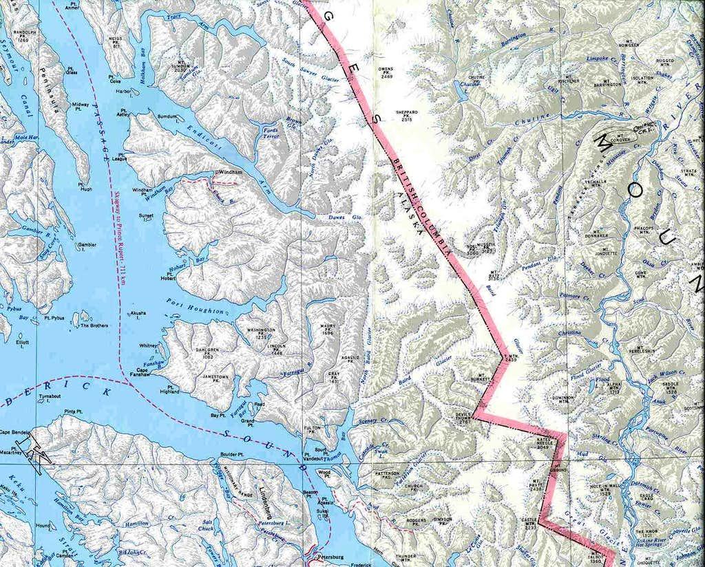 Stikine Icefield: Kate'sNeedle, Burkett, Devil'sThumb