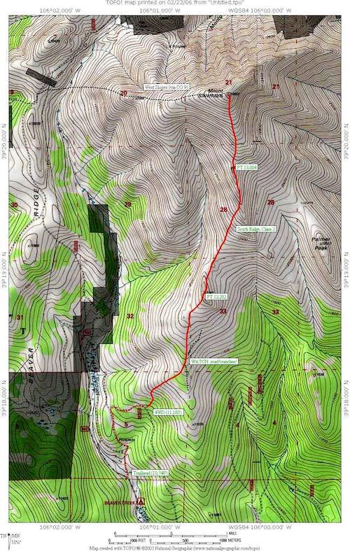 South Ridge Route Map
