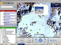 Glacier du Géant in Google Earth