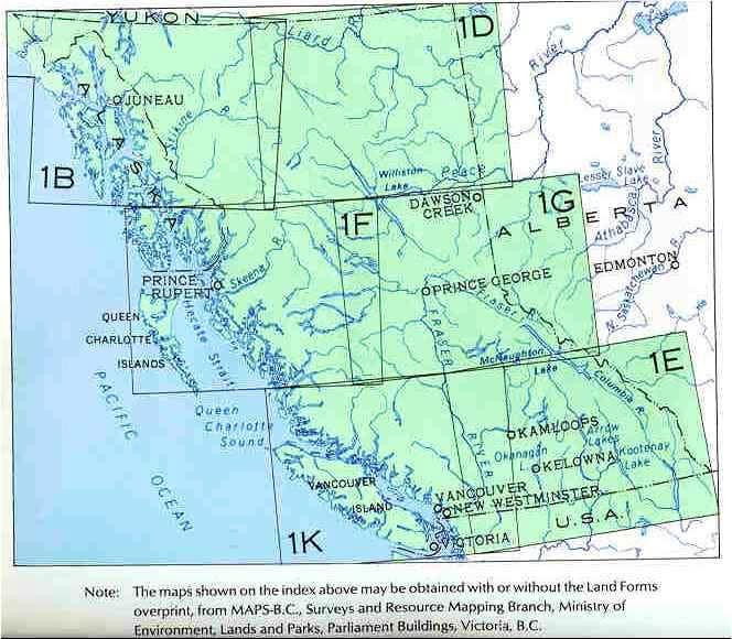 Overview Maps Alaska, BC, YT : Photos, Diagrams & Topos ...