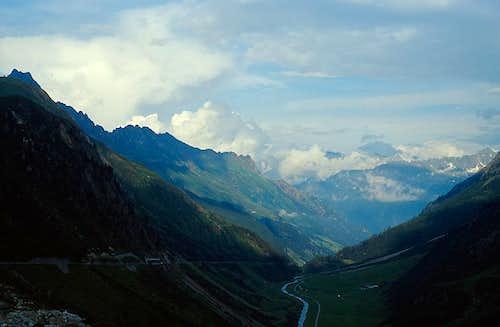 Uri Alps at sunset