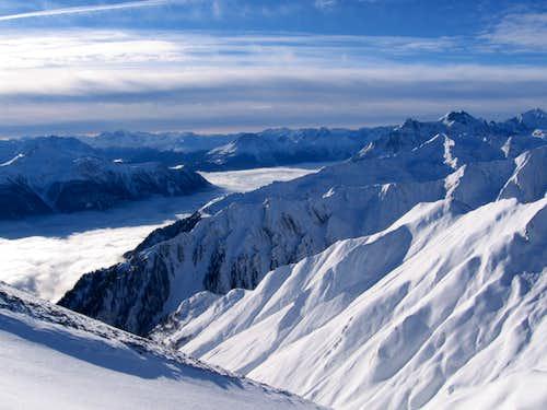 View into Oetztaler Alpen