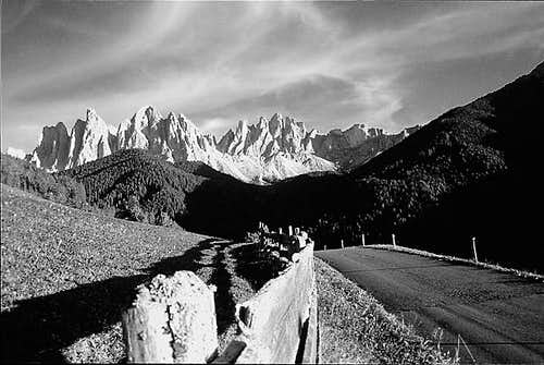 Odle from Funes valley - italy