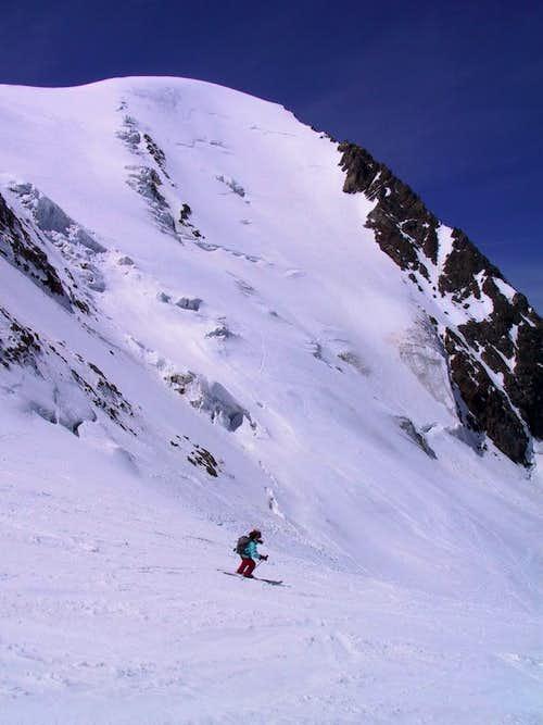 Gwaechtenhorn by ski on May...
