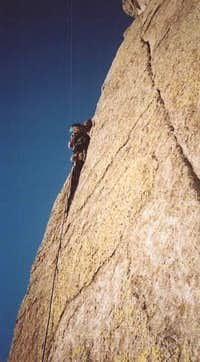 STILETTO HEELS. Todd Z on Devils Tower, Wyoming