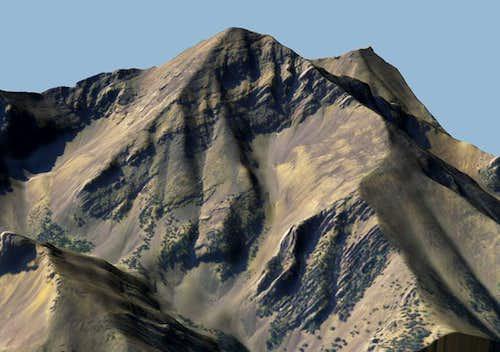 Diamond Peak 3D Model