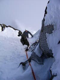 pinnacle climbing in winter