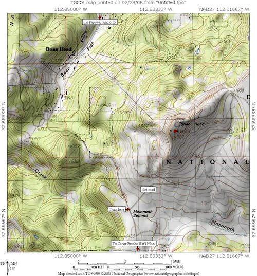 Iron County Utah - Brianhead Pk