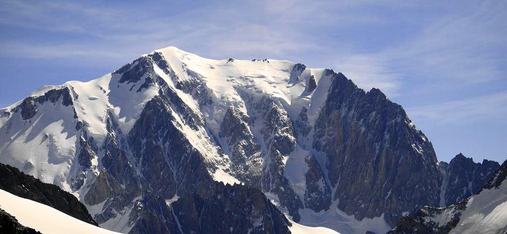 Mont Blanc seen from Dom de Miage