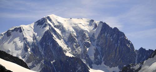 Mont Blanc seen from Dom de Miage