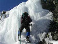 ice climbing in Tuckerman...