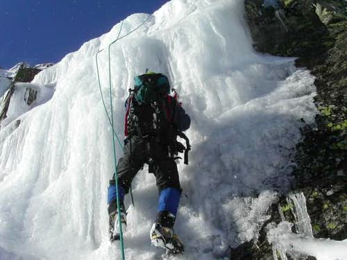 ice climbing in Tuckerman...